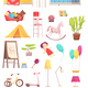 Children Room Interior Elements Set