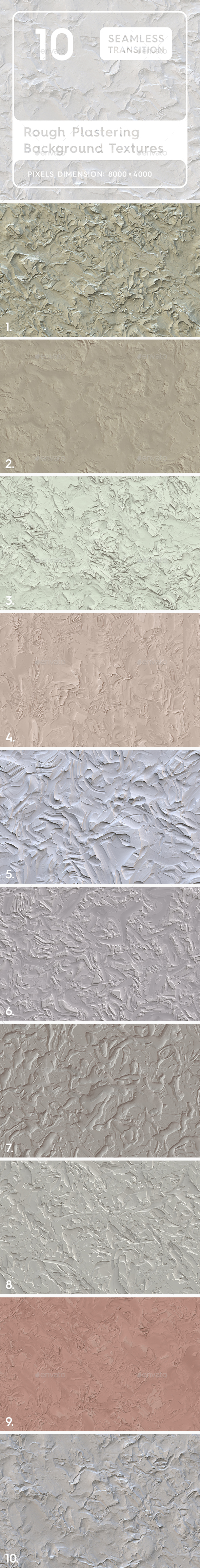 10 Rough Plastering Textures - 3DOcean Item for Sale