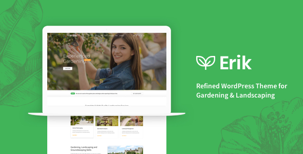 Image of Erik - Refined WordPress Theme for Gardening & Landscaping