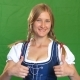 Woman in Bavarian Costume Laughs and Shows Thumbs Up - VideoHive Item for Sale