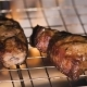 of Two Fried Piece of Meat on the Hot Grill. . - VideoHive Item for Sale