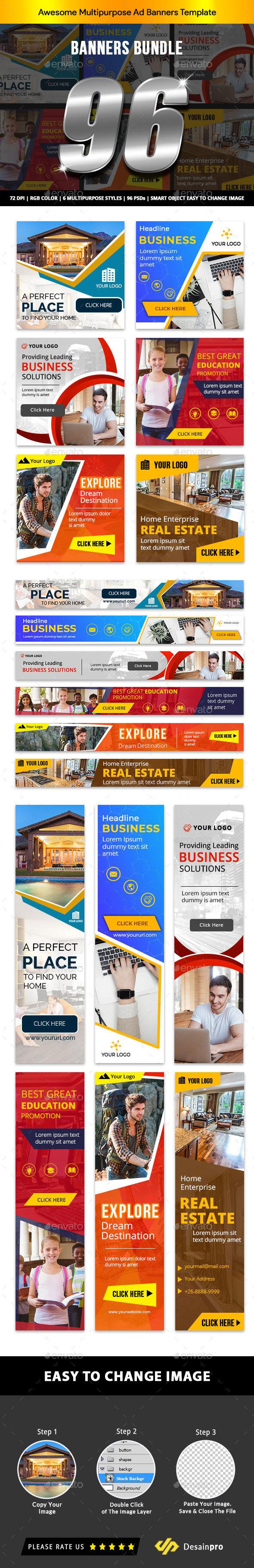 Banner Ads Bundle V2 - AR - Banners & Ads Web Elements