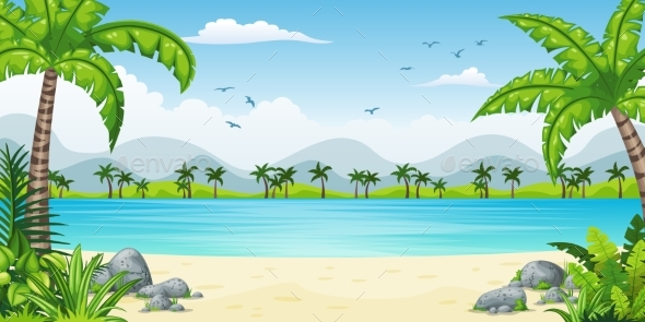 Tropical Coastal Landscape - Landscapes Nature