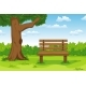 Summer Landscape With Bench