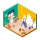 Room Renovation Vector Illustration Isometric