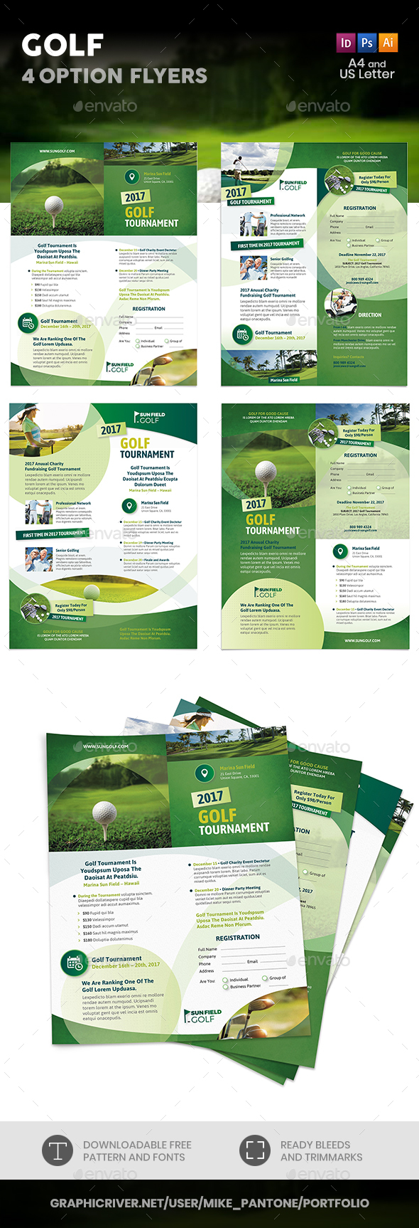 Golf Flyers 7 – 4 Options - Corporate Flyers