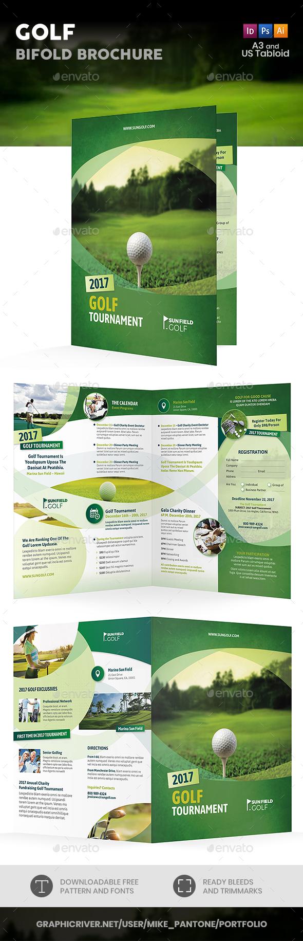 Golf Bifold / Halffold Brochure 7 - Informational Brochures