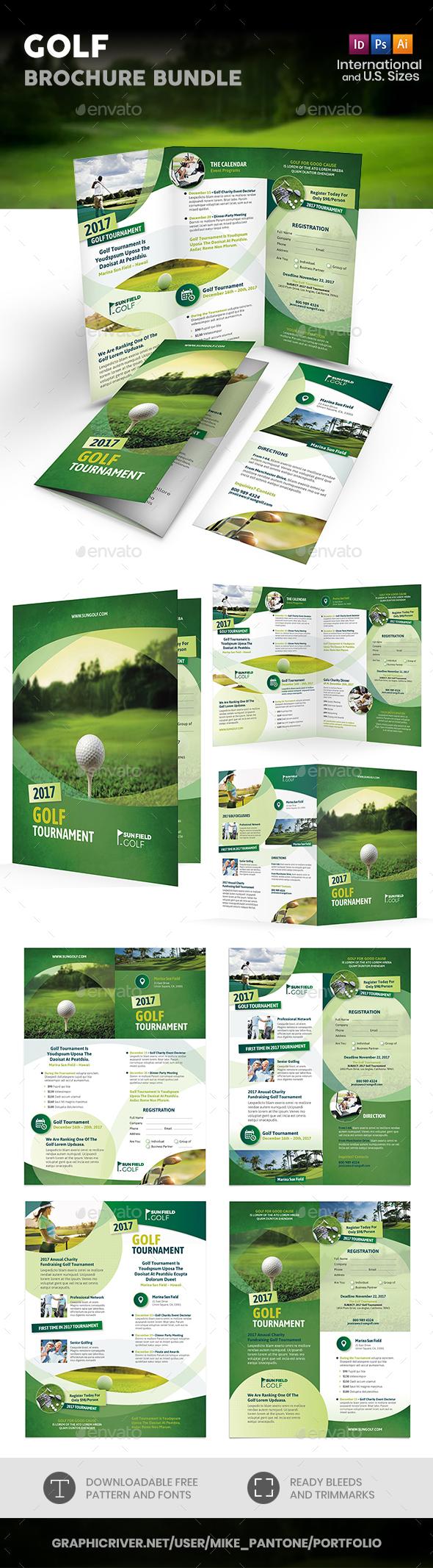 Golf Print Bundle 7 - Informational Brochures