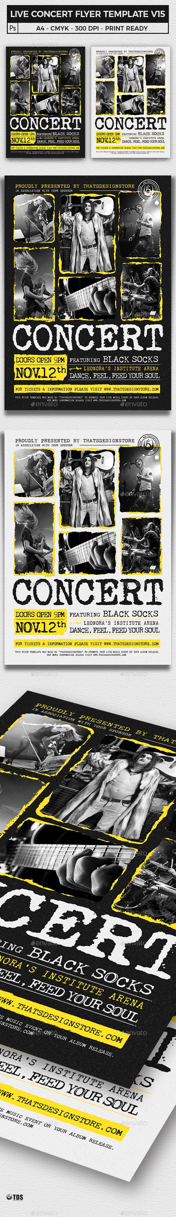 Live Concert Flyer Template V15 - Concerts Events