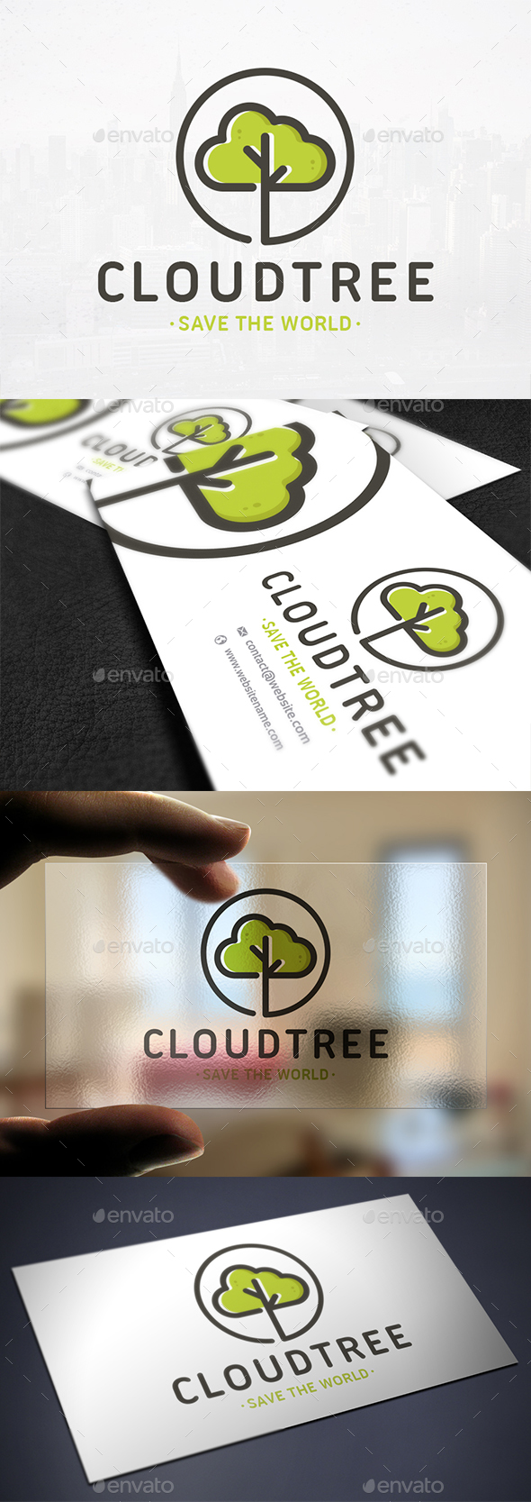 Cloud Tree Logo Template - Nature Logo Templates