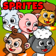 5 Animals 2D Game Character Sprites