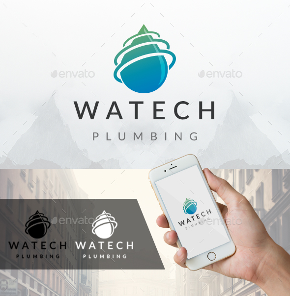Water Tech Logo - Nature Logo Templates