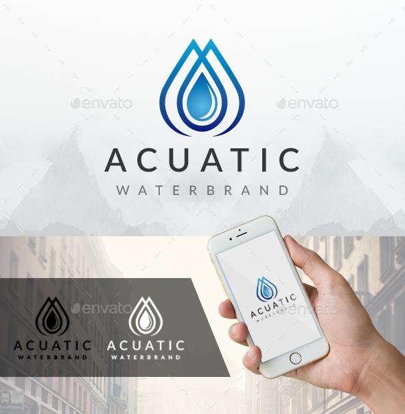 Acuatic Water Logo - Nature Logo Templates