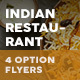 Indian Restaurant Menu Flyers 2 – 4 Options
