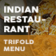 Indian Restaurant Trifold Menu 2