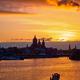 Amsterdam cityscape skyline with Church of Saint Nicholas on su - PhotoDune Item for Sale
