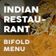 Indian Restaurant Bifold / Halffold Menu 2