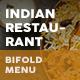 Indian Restaurant Bifold / Halffold Menu 2