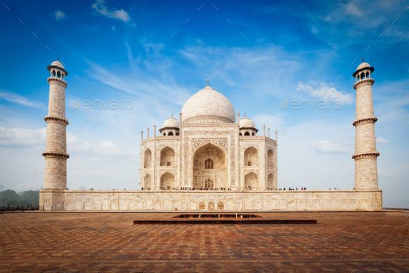 Taj Mahal, Agra, India - Stock Photo - Images
