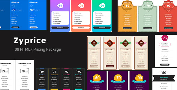 Zyprice - Multi-purpose Pricing Tables - CodeCanyon Item for Sale