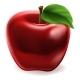 Cartoon Red Apple Icon