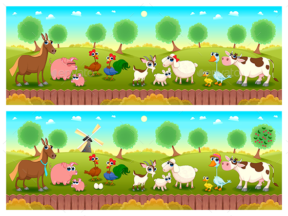 Spot the differences by ddraw graphicriver spot the differences animals characters altavistaventures Choice Image