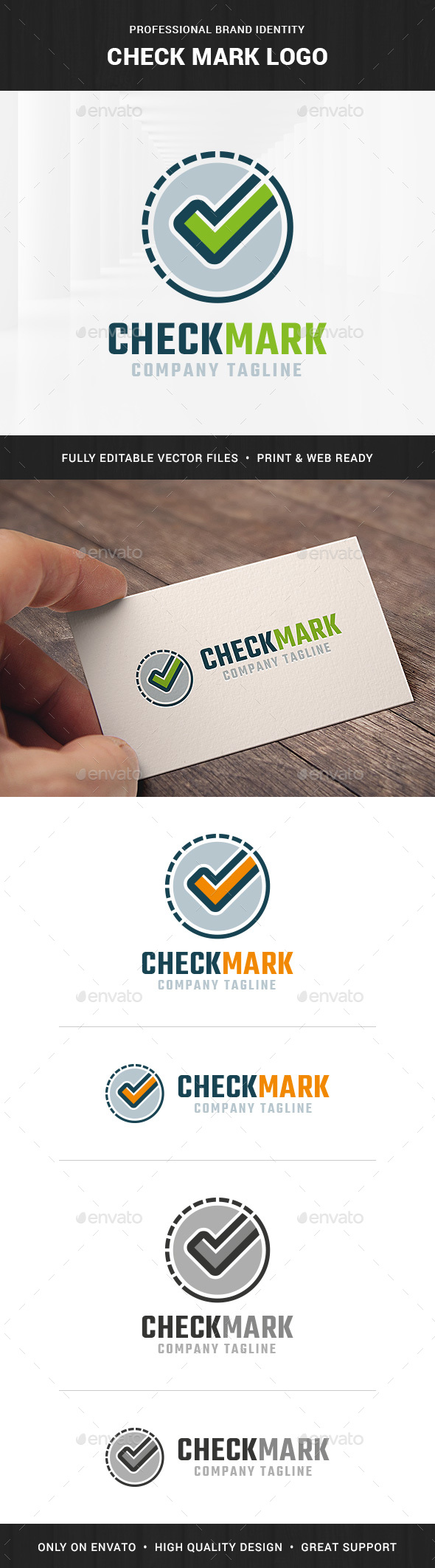 Check Mark Logo Template - Symbols Logo Templates