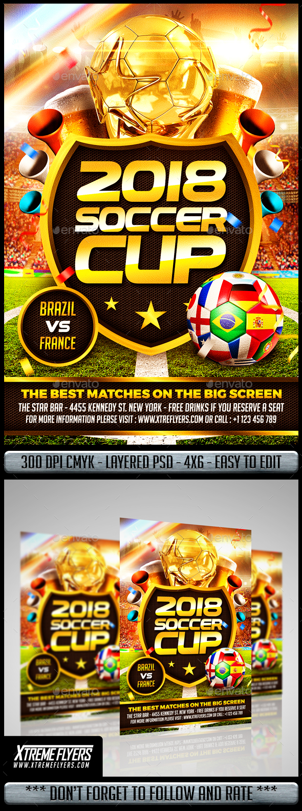 Soccer World Cup Flyer - Sports Events