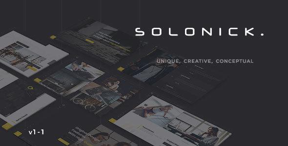 Image of Solonick - Creative Responsive Personal Portfolio