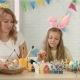 Loving Daughter Makes Surprise To Her Mom and Gives Card for Easter - VideoHive Item for Sale
