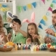 Kids Wearing Bunny Ears on Easter Day - VideoHive Item for Sale