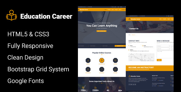 Education Career - Responsive HTML Template