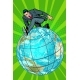 Businessman Walking on the Planet