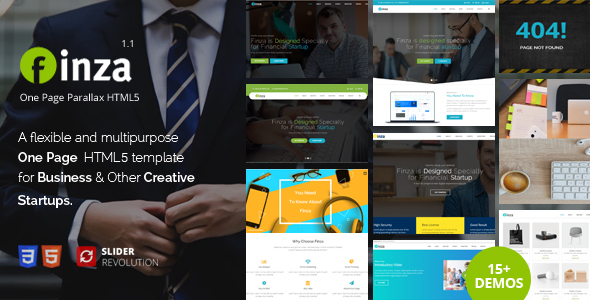 Finza - One Page Parallax - Business Corporate