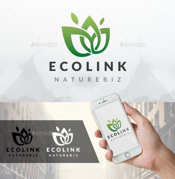 Eco Link Logo - Nature Logo Templates