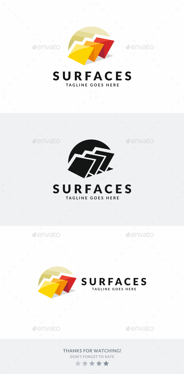 Surfaces - Objects Logo Templates