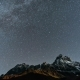 Amazing Starry Night in Touristic Place the Ushba Mountain - VideoHive Item for Sale
