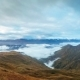 Thick Clouds Floating Over Mheer Mountain Chain at Sunrise Filmed From Guli Pass - VideoHive Item for Sale