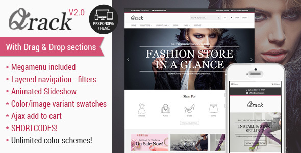 Qrack - Responsive Shopify Theme with sections