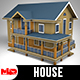 Sloped Roof House - 3DOcean Item for Sale