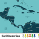 Map of Caribbean Sea - GraphicRiver Item for Sale
