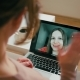 Adult Woman Is Calling with Video Via Webcam in Laptop and Greeting Her Daughter - VideoHive Item for Sale