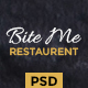 BiteMe - Restaurant Landing Page PSD Template - ThemeForest Item for Sale