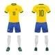 Vector Realistic Uniform of Football