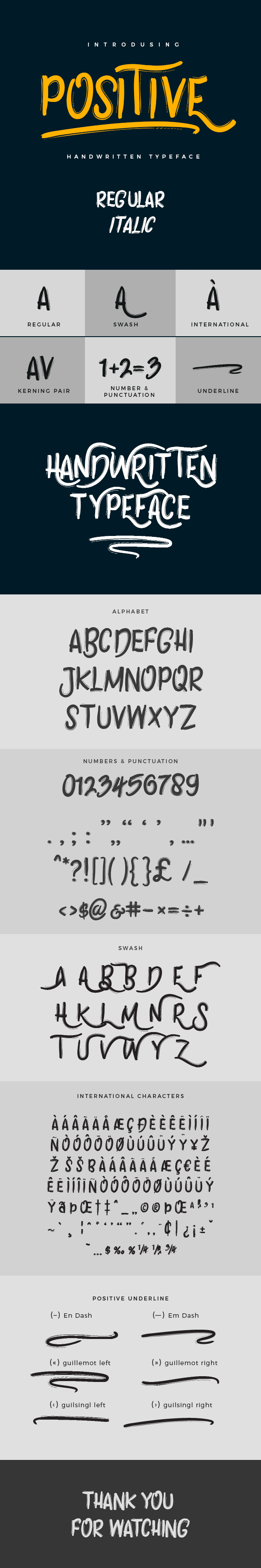 Positive Typeface - Hand-writing Script