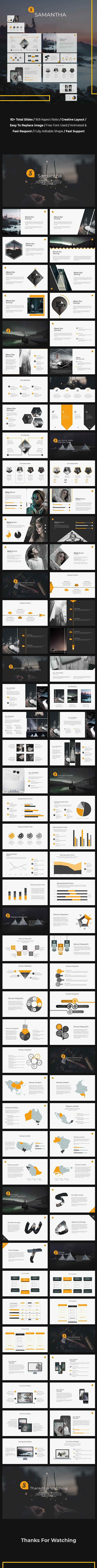 Samantha – Creative Powerpoint Template - Creative PowerPoint Templates
