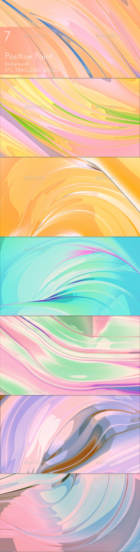 Positive Painted Background - Abstract Backgrounds