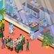 Isometric Robotic Restaurant Concept