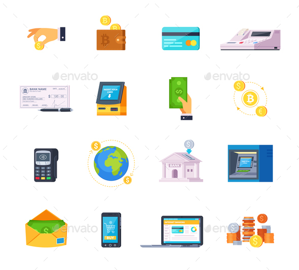 Financial Technology Icons - Concepts Business