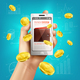 Mobile Banking Wallet Background - GraphicRiver Item for Sale